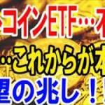 【仮想通貨】ビットコインETF…不許可でも…これからが本番!希望の兆し!!
