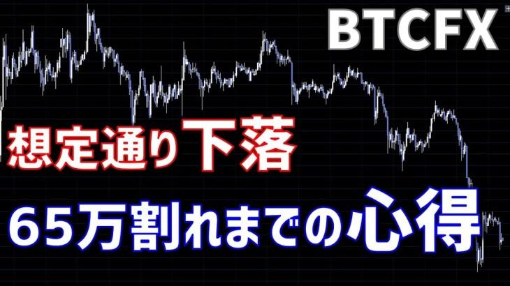【BTC】想定通り下落、65万割れまでの心得(2018年9月25日)