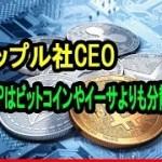 リップル社CEO 「仮想通貨XRPはビットコインやイーサよりも分散型」SECの見解は「楽しみにしている」