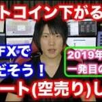 【2019年1月1日】ビットコインFX相場分析。ショート(空売り)しました!BTCFX。