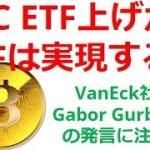 ビットコイン、ETF上げか。ETFは実現する?VanEck社のGabor Gurbacs氏の発言に注目。【仮想通貨 BTC】【暗号通貨】