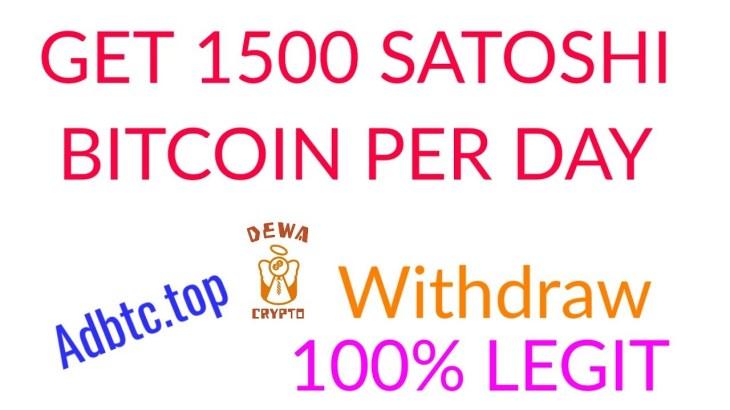 Trik Adbtc.top Dapat 1500 Satoshi Bitcoin Per Hari   Withdraw Legit 100%   Faucethub