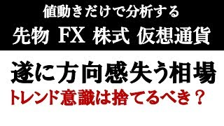 【FX】遂に方向感失う相場到来、トレンド意識は捨てるべき環境(2019年3月15日)