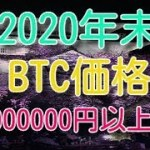 2020年末のビットコイン価格は1億円以上!?