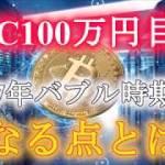 【必見】ビットコイン100万円目前‼ 今後価格影響にも繋がる最重要な点があります…。