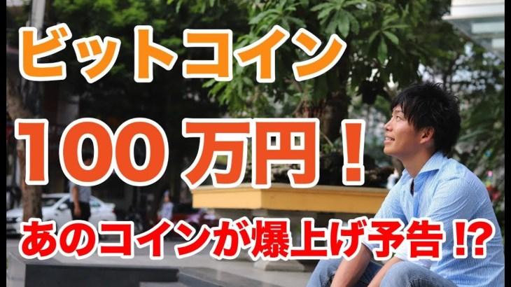 【仮想通貨】ビットコイン100万円!6月1日までにこのコインが爆上げか!?【暗号通貨】
