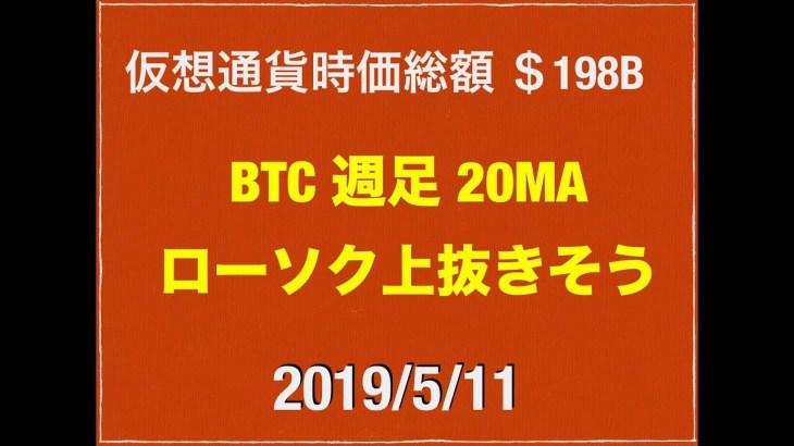 【ビットコイン原資入ってきた】2019/5/11 仮想通貨時価総額21兆8000億