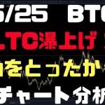 5/25【ビットコインFX】LTC(ライトコイン)瀑上げ!初動を取ったか!?チャート分析