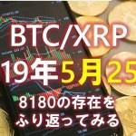 【BTC】ビットコインはどうなる?5月25日の分析&短観 8180について振り返ってみる(´・ω・`)