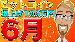 【仮想通貨】ビットコイン(BTC)6月に100万円を突破