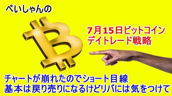 7月15日 仮想通貨ビットコインデイトレードテクニカル考察 「BTC暗号通貨」