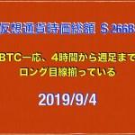 【ビットコインが色気あるチャートになってきた】2019/9/4仮想通貨時価総額28兆5000億 ドル106円2銭