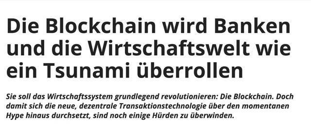 Blockchain Tsunami