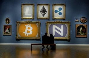 Cryptocurrency Art Gallery: Litecoin, Ether, Ripple, Bitcoin and Namecoin (Image: Namecoin/Flickr)