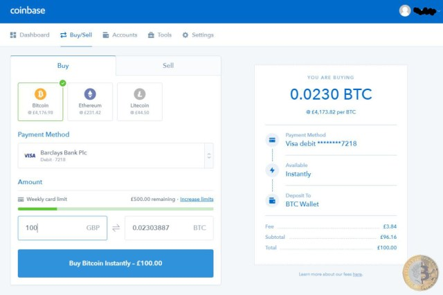 How to buy your first bitcoin on coinbase bitcoin investors uk ccuart Image collections