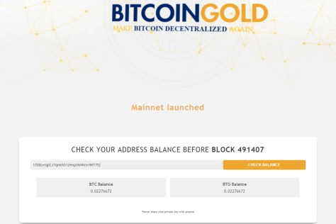 Bitcoin Gold claim confirmed (Image: BIUK)
