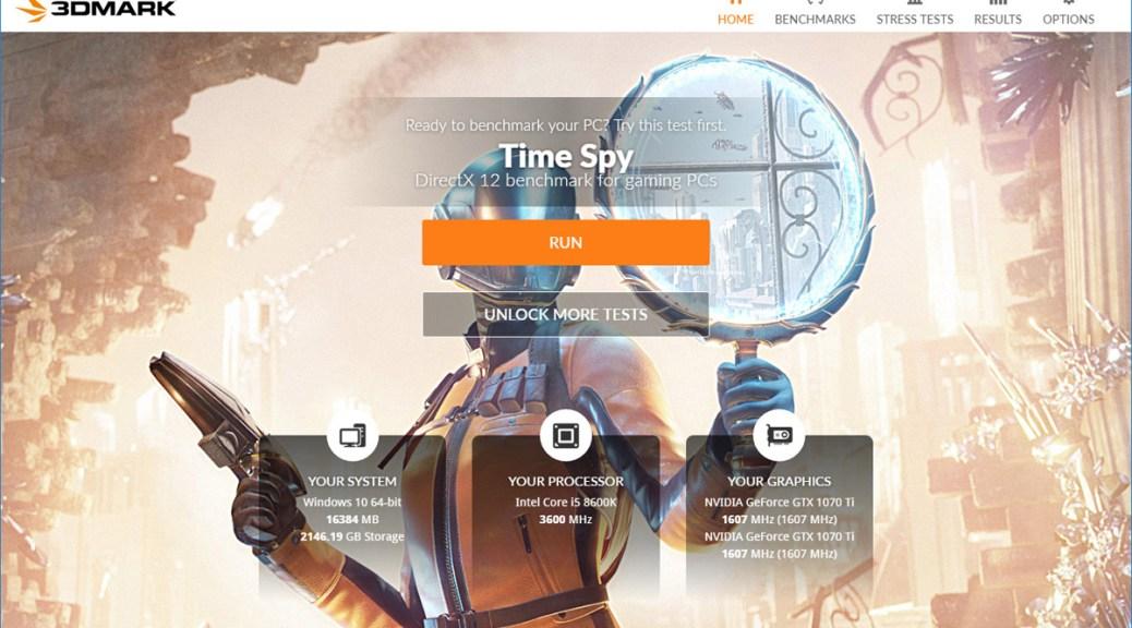 3DMark Home Page (Image: BIUK)