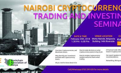 Nairobi Cryptocurrency Trading and Investing Seminar