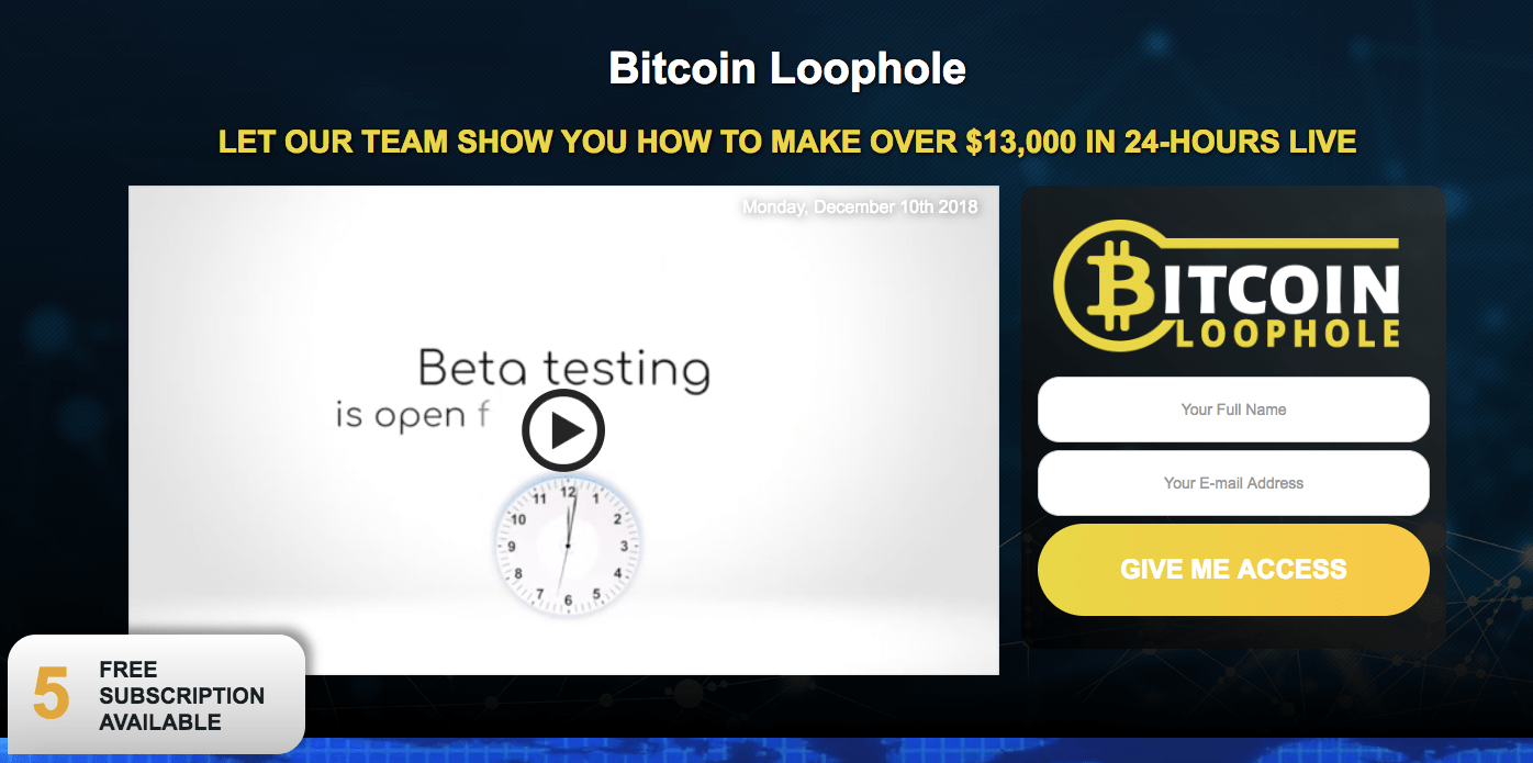 does bitcoin loophole really work