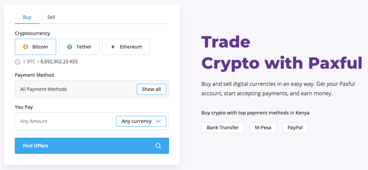 Paxful Landing Page