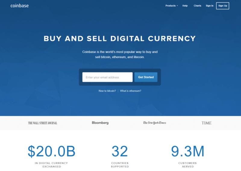 Exchange bitcoin with Coinbase