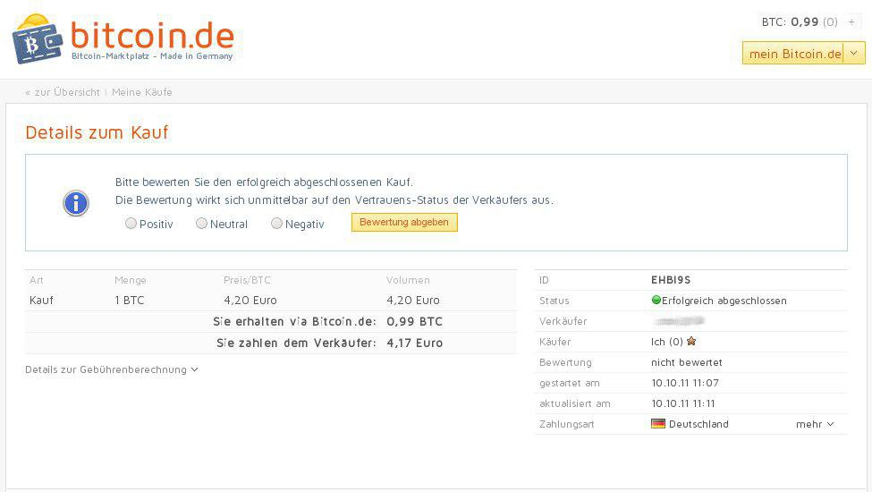 bitcoin.de Zahlungseingang_Bewertung