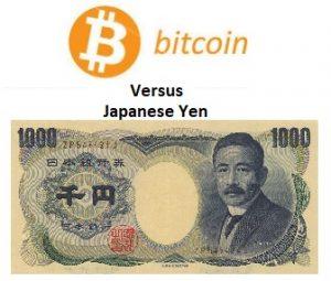 Bitcoin vs. JPY Preistabelle