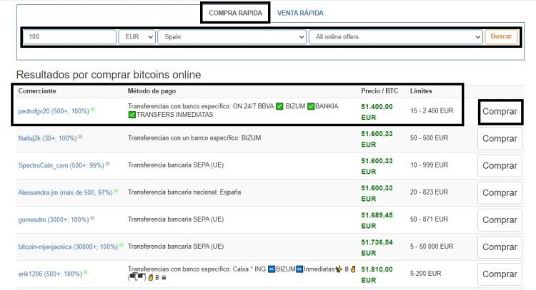 Comprar BTC Localbitoins