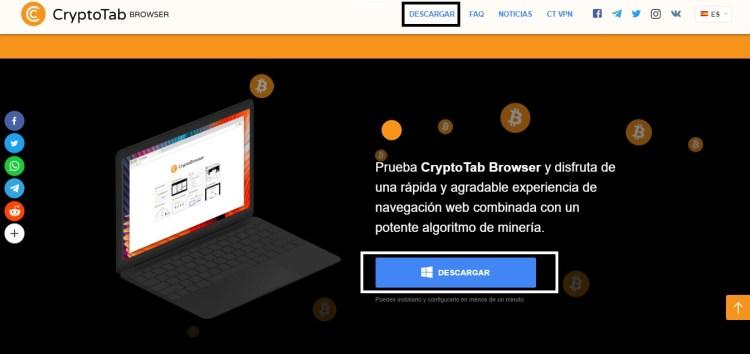 Descargar CryptoTab