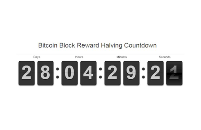 Bitcoin block reward halving countdown review real time updates ccuart Image collections