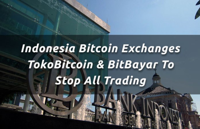 indonesia bitcoin exchanges tokobitcoin n bitbayar to stop all trading