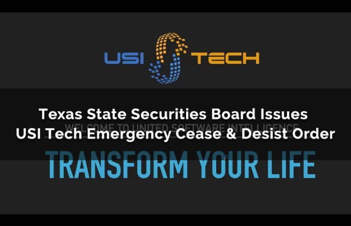 Texas State Securities Board Issues USI Tech Emergency Cease & Desist Order