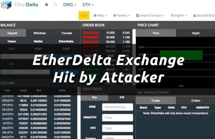 EtherDelta Cryptocurrency Exchange Gets Hacked By Trading Attacker