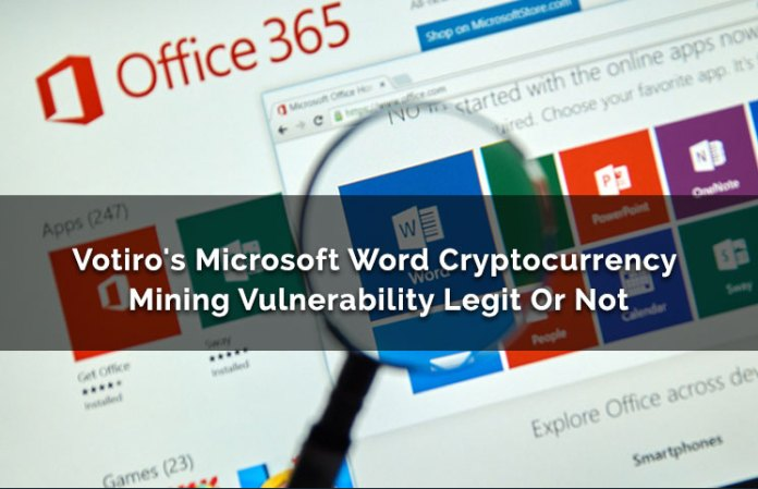 Microsoft word cryptocurrency mining vulnerability legit or not votiros microsoft word cryptocurrency mining vulnerability legit or not ccuart Choice Image