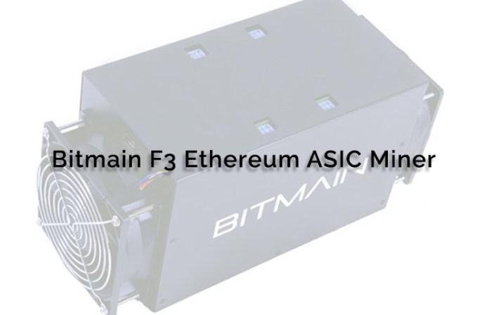 bitmain f3 ethereum asic miner