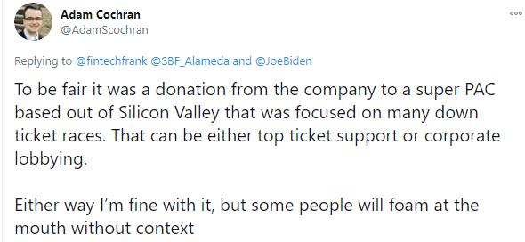 Adam Cochran on FTX CEO