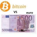 Bitcoin vs euro Handelsdiagramm