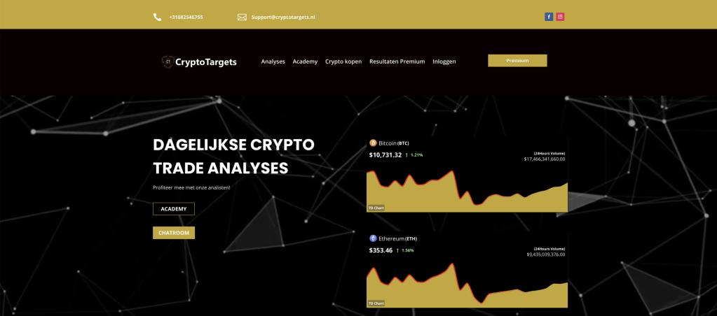 Crypto targets Screencap