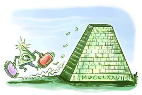 Crypto pyramid schemes