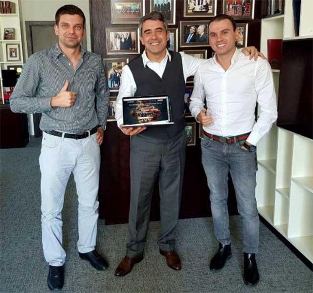 Left to right: Hristo Tenchev (COO), Rosen Plevneliev (Former President of Bulgaria) and Nikola Alexandrov (CEO). Courtesy of LockChain Ltd.