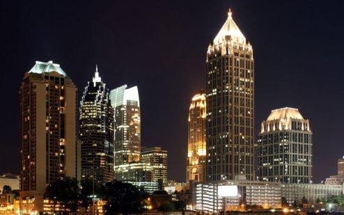 Atlanta's night skyline.