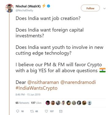 WazirX CEO talks about consequence of crypto ban in India