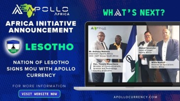 Apollo Currency Signs MOU With Nation of Lesotho as Part of Blockchain Initiative