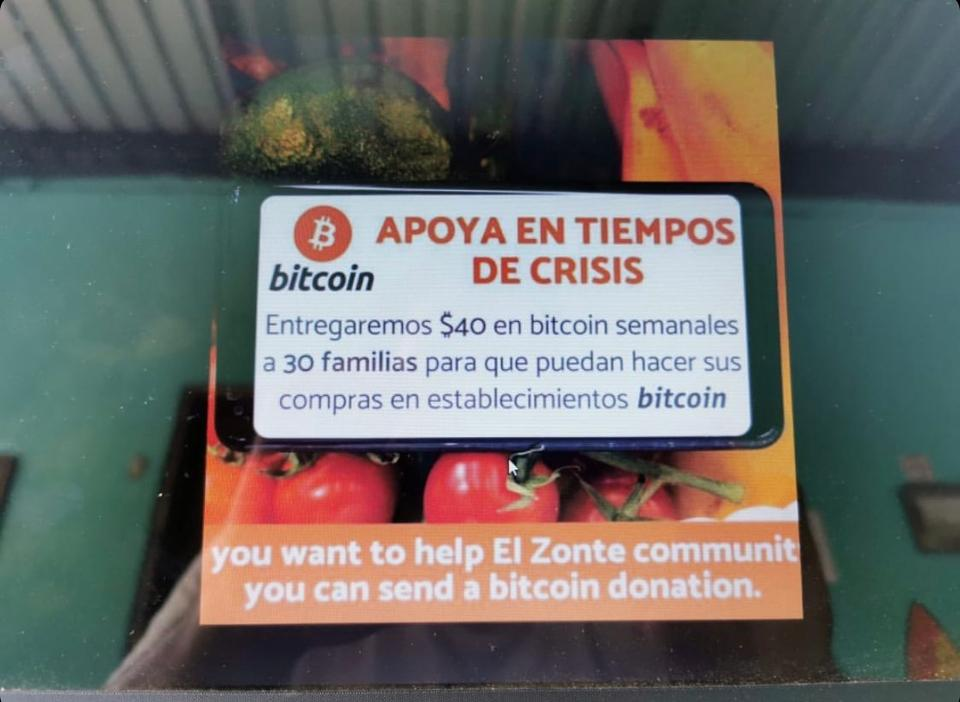 Bitcoin donations to El Zonte.