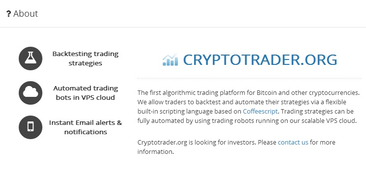 Cryptotrader.org About