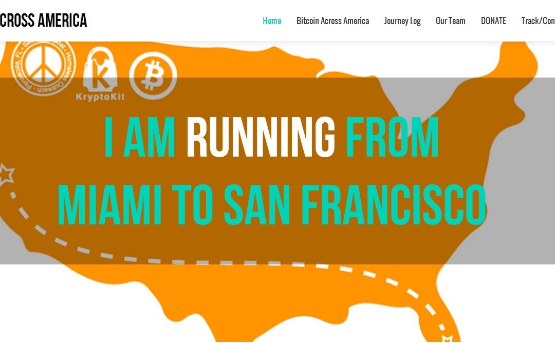 Raising Bitcoin And Awareness to Combat Hunger And Homelessness –  Jason King's Ultra-Marathon 'Bitcoin Across America'