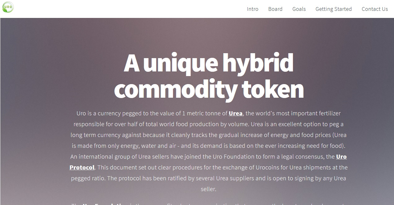 URO Cryptocurrency