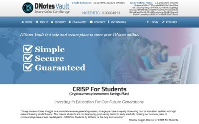 Digital Currency Student Debt Solutions Offered by Bitcoin Alternative DNotes With Long Term Savings Plans For Students