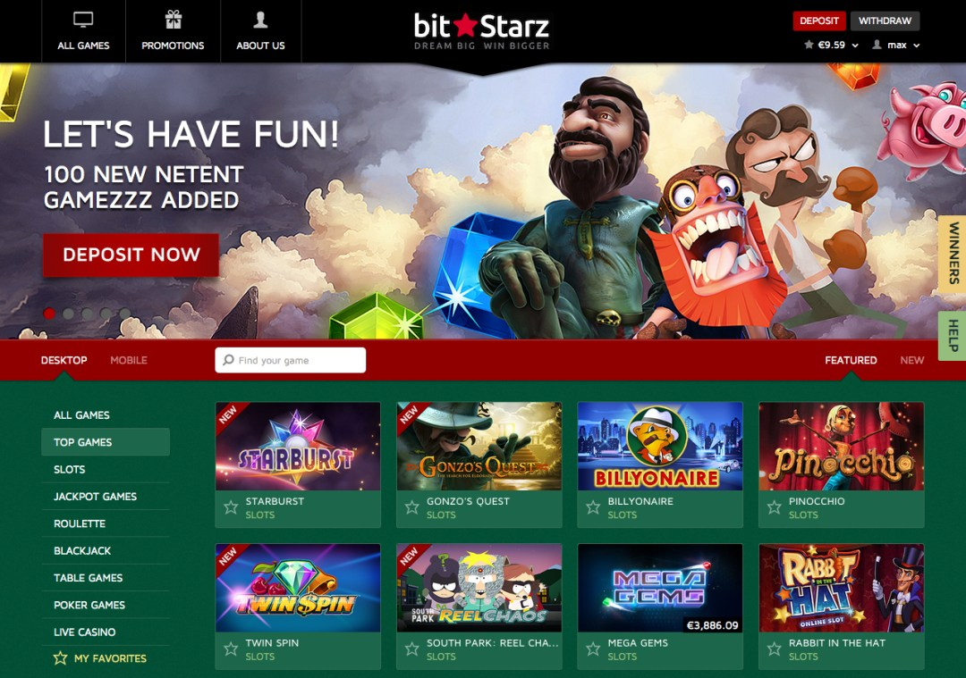 BitStarz Screenshot