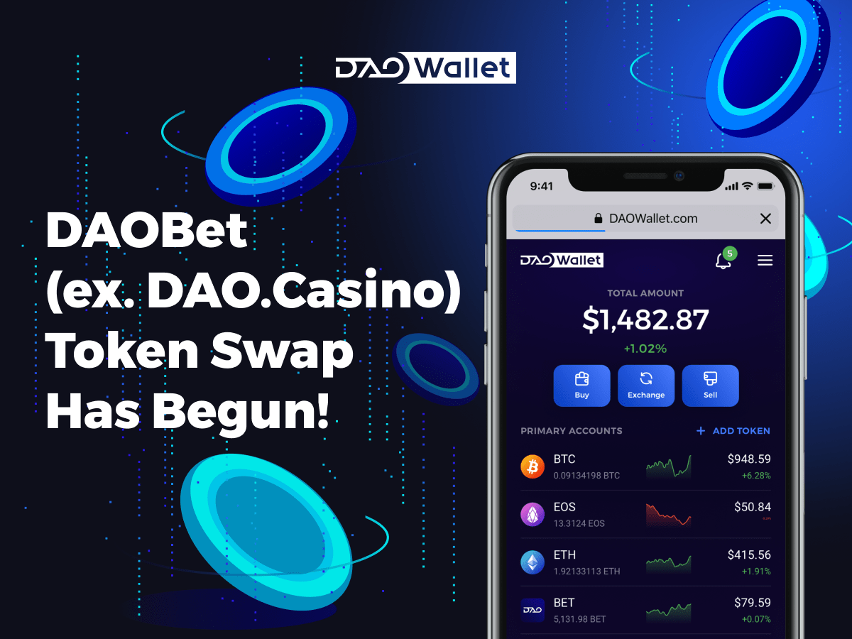 DAOBet (ex. DAO.Casino) Token Swap Has Begun: Time to Claim BET Tokens